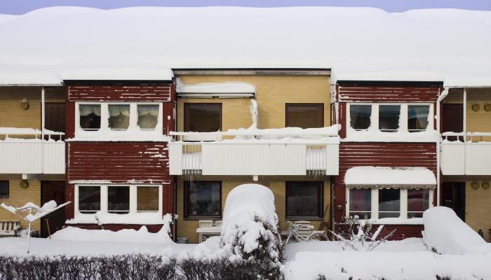 Lägenheter på vintern