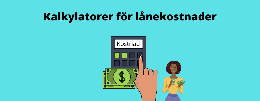 Beräkna kostnad lån kalkylator